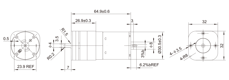 DC-Motor_134C32B-530B_Outline-drawing